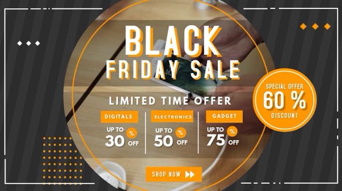 Black Friday Electronics Sale Digital Signage