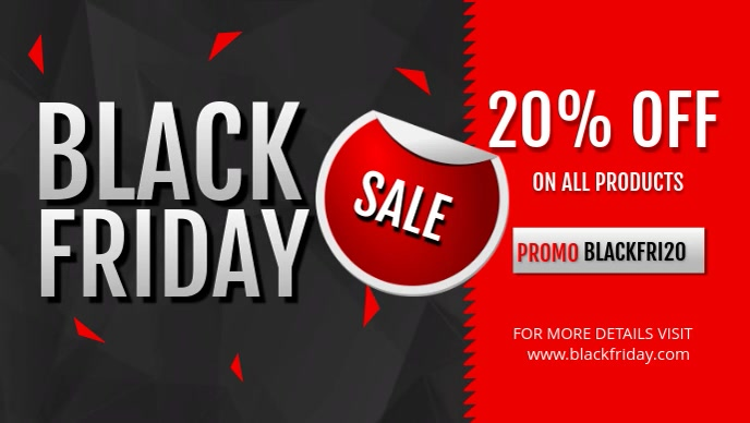 Black Friday Electronics Sale Facebook Cover Video template