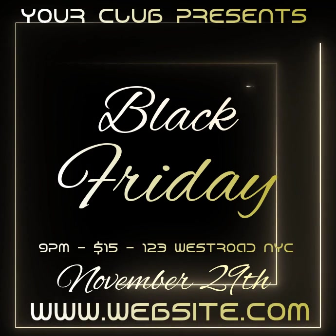 black friday event ad social media Square (1:1) template