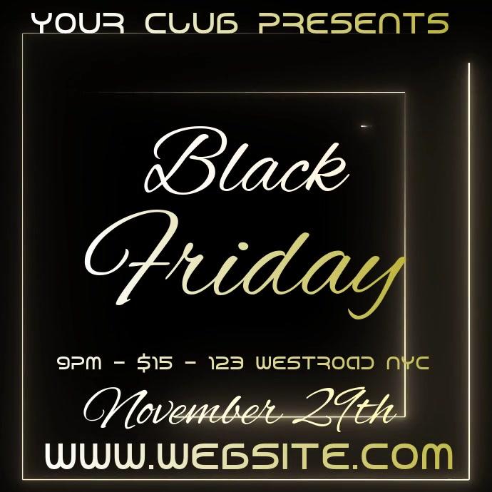 black friday event ad social media Kvadrat (1:1) template