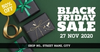 Black friday event Facebook 活动封面 template