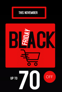 Black Friday Event Flyer Plakat template