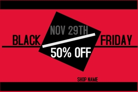 Black Friday Event Flyer Cartaz template