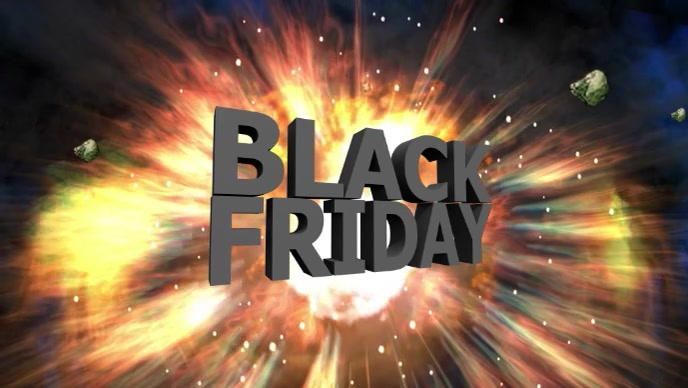 Black Friday Explosion Firework hot deals ad template