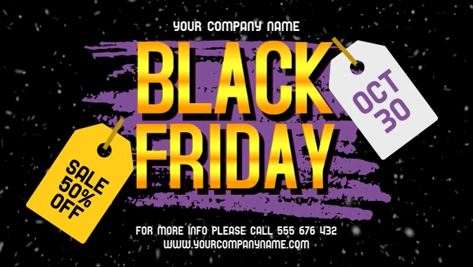 Black Friday Facebook Cover Video
