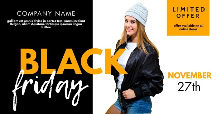 black friday facebook post advertisement template