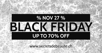 Black Friday Facebook Post Marble Sale template