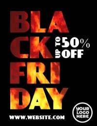 Black Friday Fire Animated Flyer 传单(美国信函) template