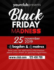 Black friday flyer, event flyer, sale flyer
