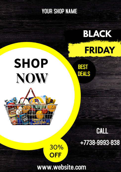 black friday flyer A3 template