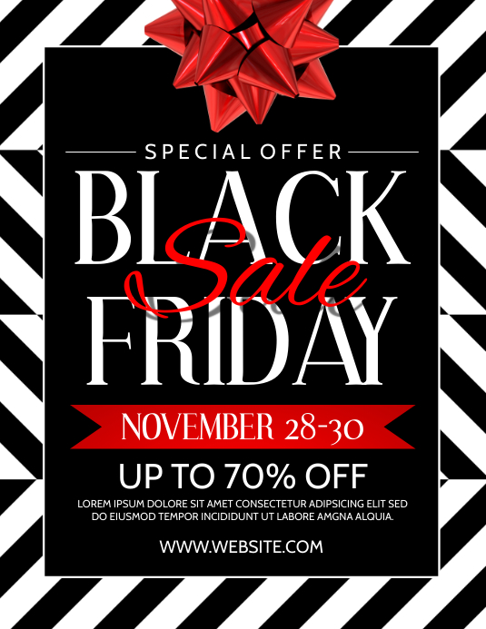 Black Friday Flyer 传单(美国信函) template
