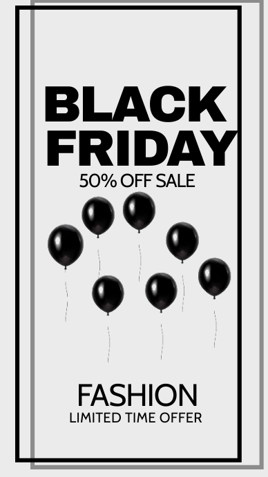 Black Friday flyer Instagram na Kuwento template