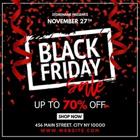 Black Friday Flyer Publicação no Instagram template