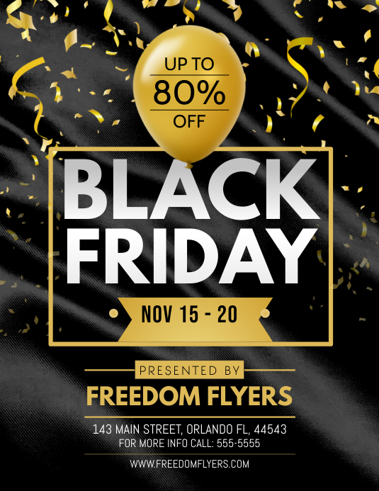 Black Friday Flyer Рекламная листовка (US Letter) template