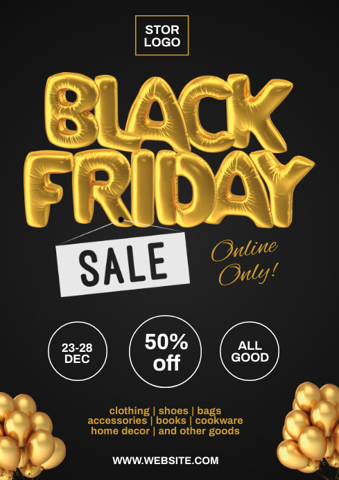 Black friday flyer A4 template