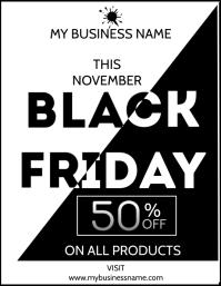 Black Friday Flyer ใบปลิว (US Letter) template