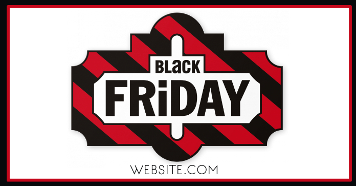 Black Friday Reklama na Facebooka template