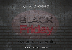 Black friday flyer template sale promotion