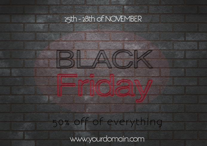 Black friday flyer template sale promotion