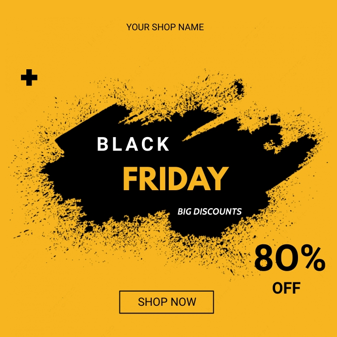 Black Friday flyers Instagram Post template