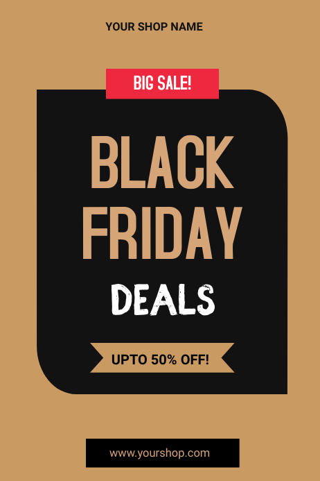 black Friday flyers Poster template