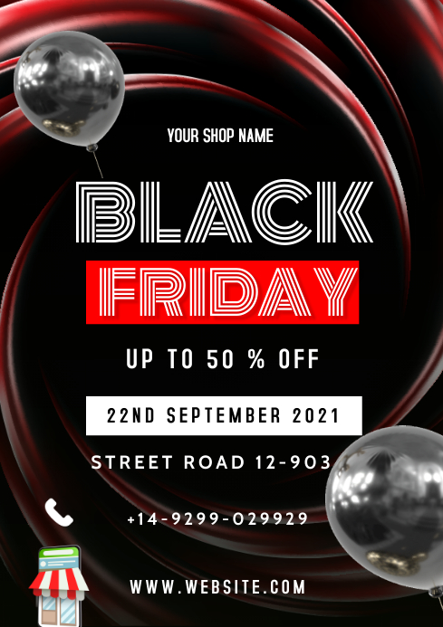 Black Friday Flyers A3 template