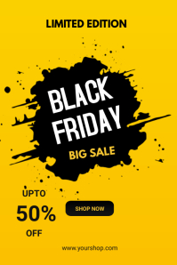 Black Friday flyers Плакат template