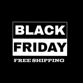 BLACK FRIDAY FREE SHIPPING Instagram Plasing template