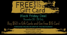 Black Friday Gift Card Promotion Anuncio de Facebook template