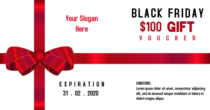Black Friday gift voucher template