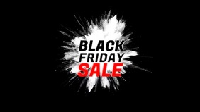 Black Friday header banner Video Sale Promo