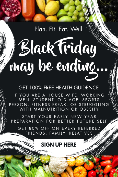 Black Friday Health Guide Email Template Cartaz
