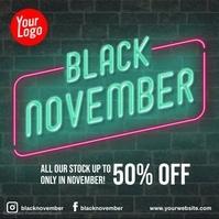 Black Friday instagram neon animation video Persegi (1:1) template