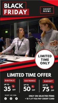 Black Friday Limited Offer Digital Display