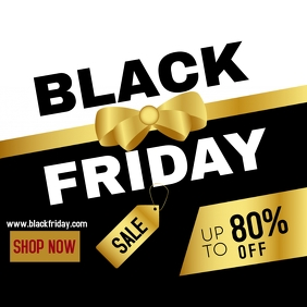 Black Friday luxury instagram ad template