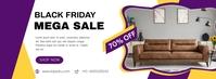 Black Friday Mega Sale Facebook Cover/Banner template