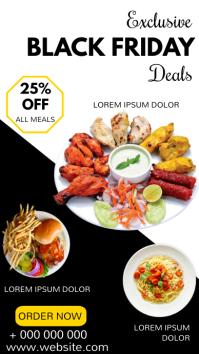 Black friday menu offer Tampilan Digital (9:16) template