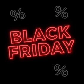 Black Friday Neon Animated Post