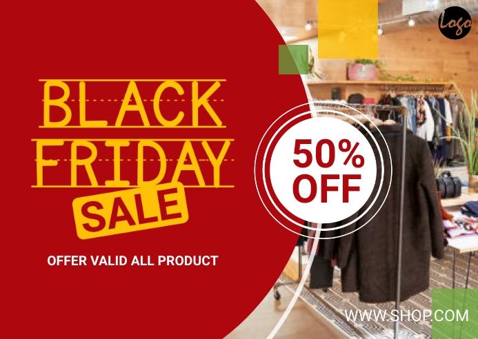 Black Friday Offer Postkarte template