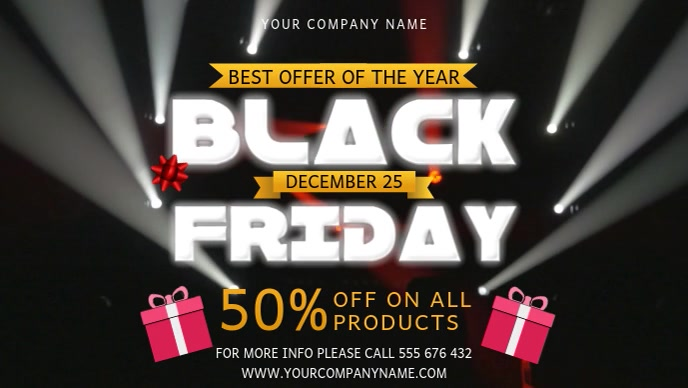 Black Friday Offer Facebook Cover Video