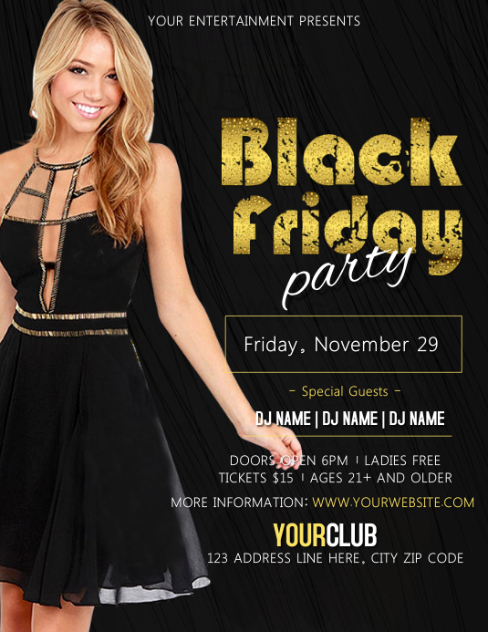 Black Friday Party Event Flyer Template