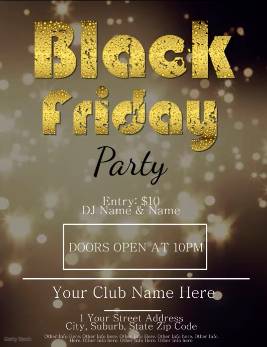 Black Friday Party Video Flyer Template