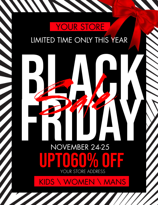 Black Friday Post Flyer Template