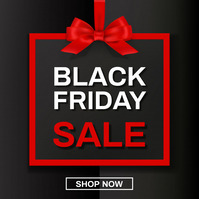 black friday poster Message Instagram template