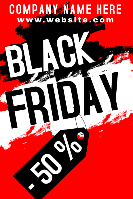 Black Friday poster Iphosta template