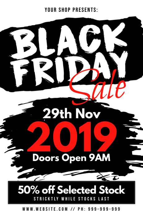 Black Friday Poster 海报 template