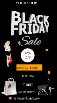 Black Friday poster Instagram Story template