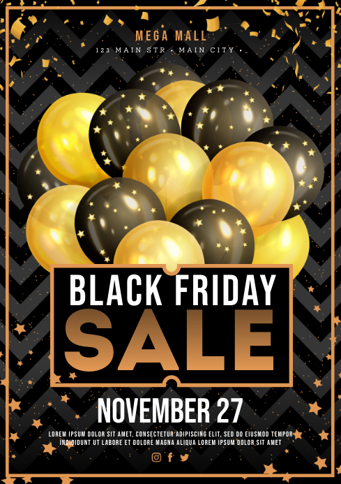 BLACK FRIDAY POSTER A4 template