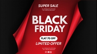 black friday poster Digital Display (16:9) template