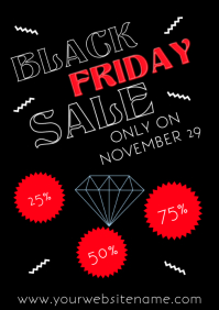 Black Friday Poster Flyer Template A4